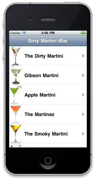 The Dirty iMartini iPhone Drink App