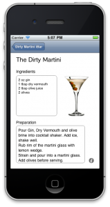 The Dirty iMartini - iPhone Drink App