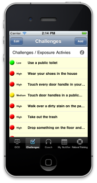 OCD Manager iPhone App