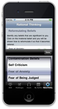 OCD Management iPhone App