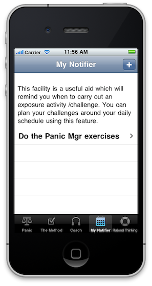 Panic Manager - iPhone Therapy App